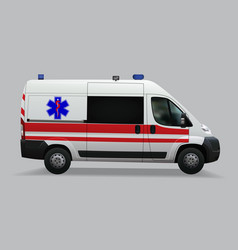 ambulance special medical vehicles realistic vector image