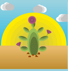 An extractive cactus in the desert vector