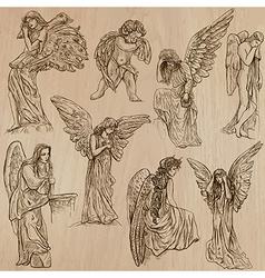 Angels - hand drawn pack vector