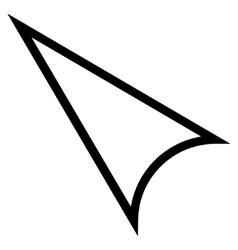 Arrowhead left up stroke icon vector
