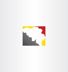 Belgium map logo icon vector