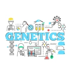 Biotechnology Linear Design vector image vector image