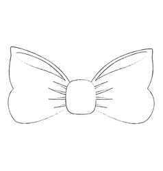 Bow tie fashion vector