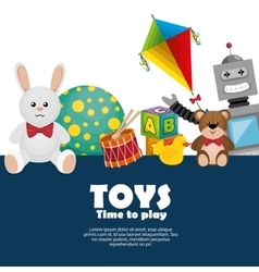 children toys set icons vector image
