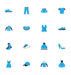 Clothes colorful icons set collection of panties vector