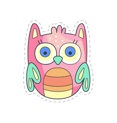 cute owlet colorful cloth patch applique for vector image vector image