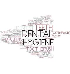 Dental hygiene word cloud concept vector