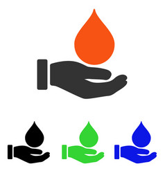 donate blood flat icon vector image