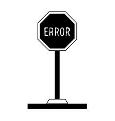 Error traffic sign icon image vector