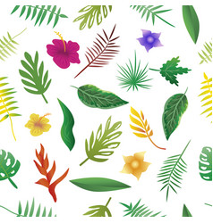 Floral and leaves of summer natural seamless vector