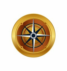 Golden compass eps icon logo download vector