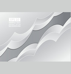 Gray abstract wave overlap background with copy vector