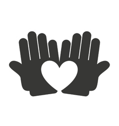 hand human silhouette icon vector image