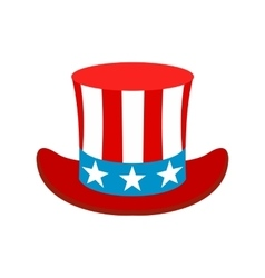 Hat in the USA flag colors icon vector image vector image