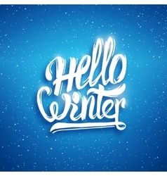 Hello winter greeting card background vector image vector image