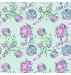 Japan Style Provence Floral Pattern vector image