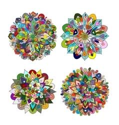 Mandala set colorful pattern for your design vector image