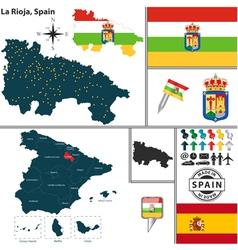 Map of La Rioja vector image vector image
