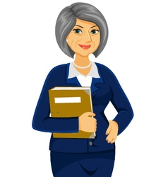 Mature business women vector