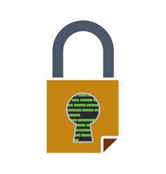 Padlock security digital vector