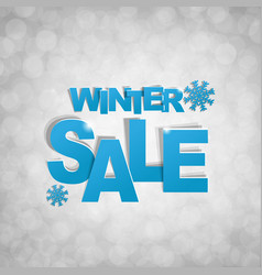 sale glitter banner with snowflake vector image vector image