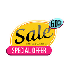 Special offer sale proposition isolated sticker vector