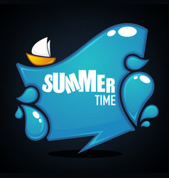 summer time glossy and shine cartoon banner vector image vector image