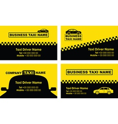 Taxi business cards vector