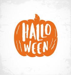 Typographic halloween pumpkin design element vector
