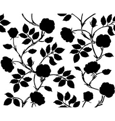 Vintage floral seamless pattern Classic hand drawn vector image