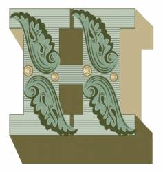 western letter h vector image vector image