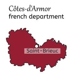 Cotes-darmor french department map vector