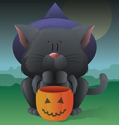Halloween kitty vector