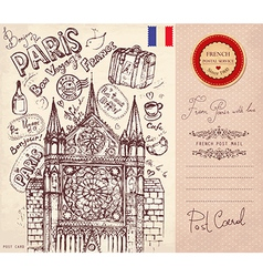 Postcard from paris vector