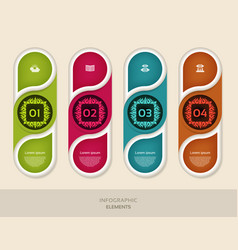 infographic business concept with 4 options vector image