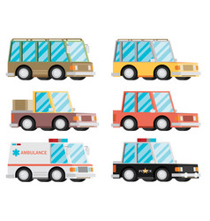 cartoon transport car vehicle icon design stylish vector image