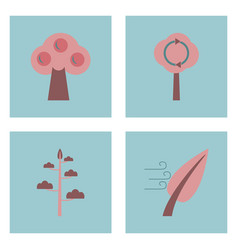 set of ecology icons on color backgrounds square vector image