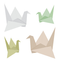 Origami bird made from recycle paper design vector