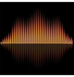 Flame flare equalizer bars on black background vector