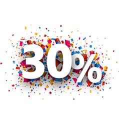 30 sale sign vector image vector image
