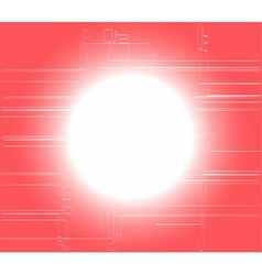 Pink circle light technology background vector