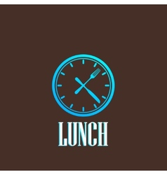 With lunch time icon vector