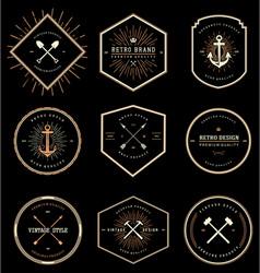 Vintage Retro Style Badges vector image