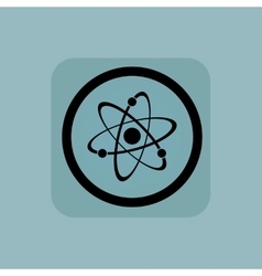 Pale blue atom sign vector