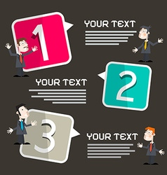 Infographics template with men - businessmen vector