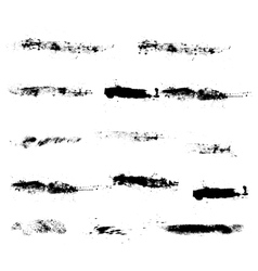 Dirty strokes ink texture brush black watercolor vector