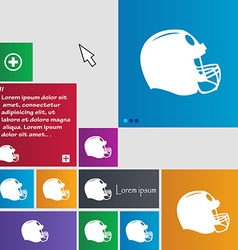 Football helmet icon sign buttons modern interface vector