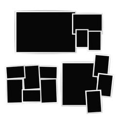 Photo album composition vector image
