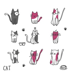 Cats - freehand drawing vector