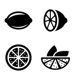 Lemon icons set vector